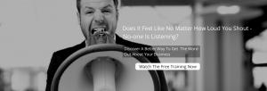 Amanda Murdoch marketing getting customers free training No-one Is Listening_